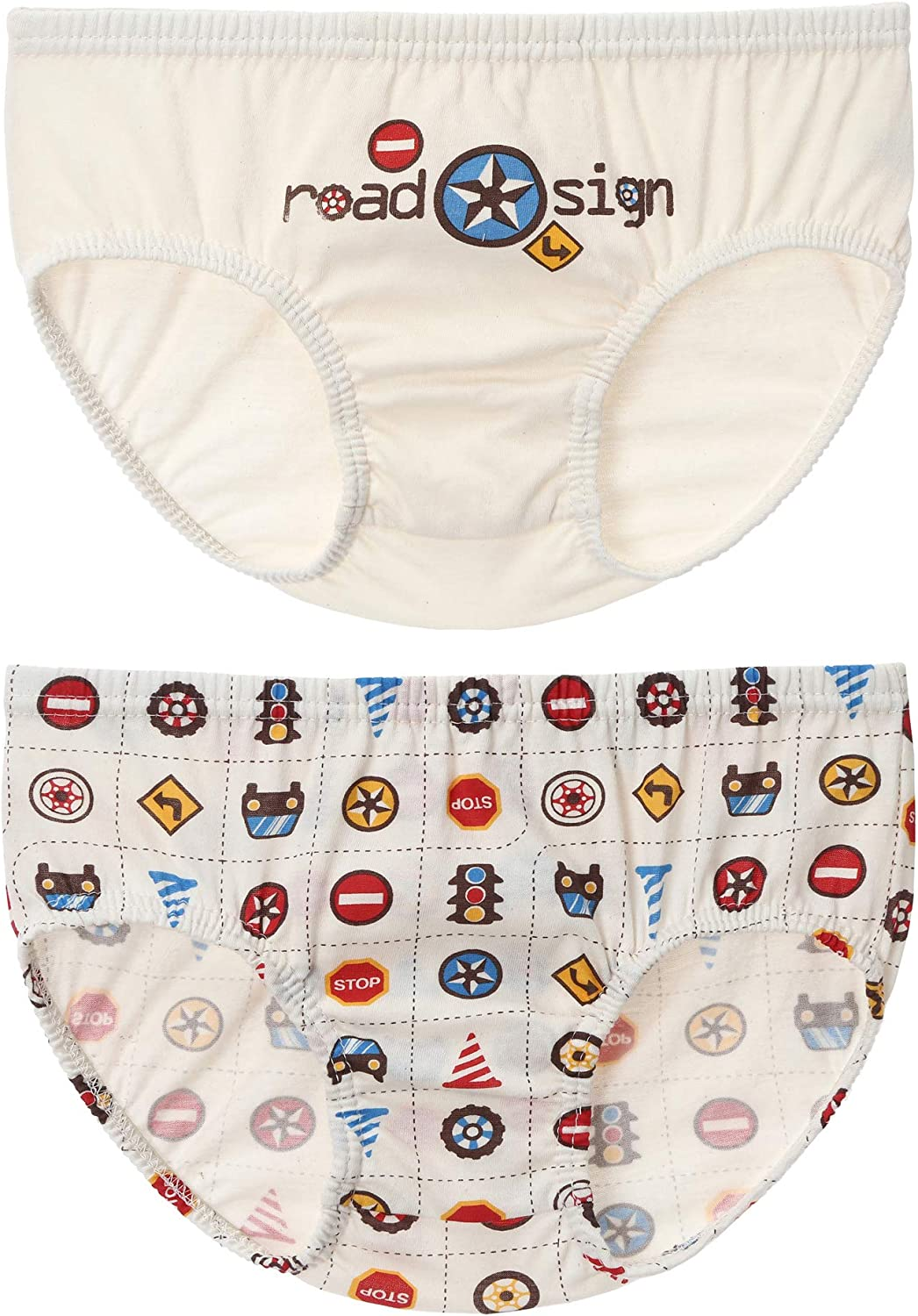 WithOrganic 2 Piece Brief Underwear Set for Boys and Girls - 100% Certified Organic Cotton
