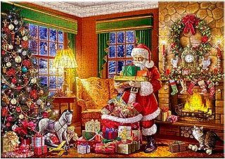 クリスマスジグソーパズル、1000PCS最高のジグソーパズルゲーム安全な教育ゲームおもちゃクリスマスツリー大人のためのサンタクロースパズルファミリーパーティー