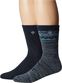 Fair Isle Space Dye Wool Crew 2-Pack