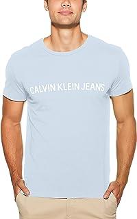 Calvin Klein Jeans Men's Institutional Logo Slim Fit T-Shirt, Sky/WHT, M