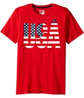 adidas Kids - USA Tee (Big Kids)
