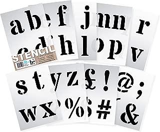 Dovetails Letter Stencil 4