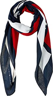 Tommy Hilfiger Women's Cut-Out Logo Scarf, Tommy Navy Mix, One