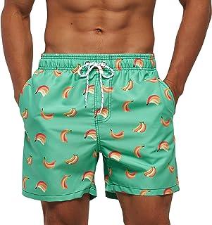 Arcweg Beach Shorts Mens Mesh Lining with Pockets Quick Dry Swim Shorts Trunks Water Repellent Elastic Drawstring Loose Su...