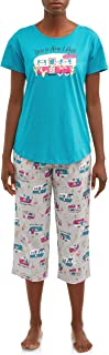 RV This is How I Roll Bright Teal 2 Piece Knit Pajama Sleep Set