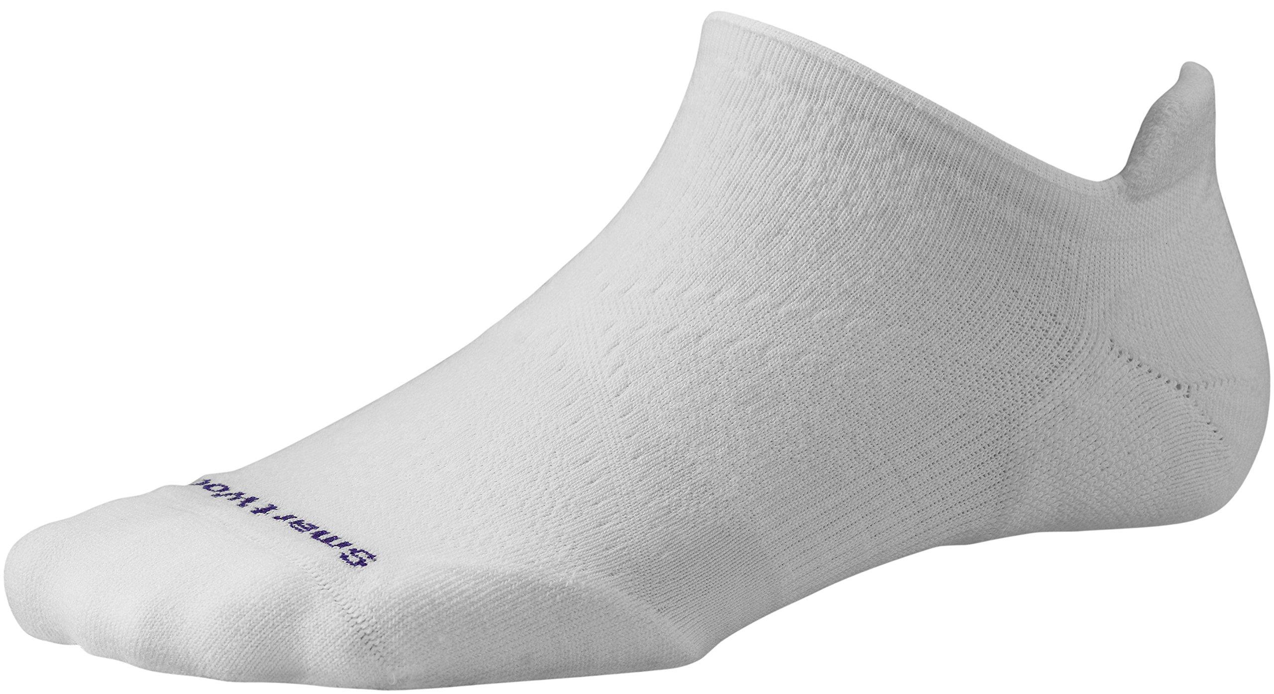Smartwool Damen Socken Strümpfe Women's PhD Run Light Elite Micro, White, L