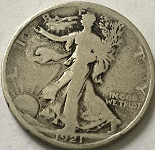 1921 D Walking Liberty KEY DATE RARE Half Dollar Very Good +