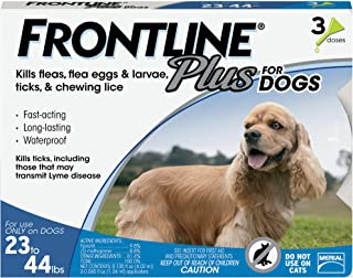 FRONTLINE Plus Flea and Tick Treatment for Medium Dogs (23-44 Pounds)