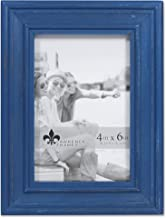 Lawrence Frames 4x6 Durham Weathered Navy Blue Wood Picture Frame
