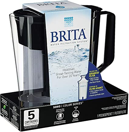 Brita Soho Black Pitcher Water Filtration System