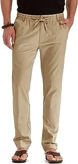 Men's Drawstring Casual Beach Trousers Linen Summer Pants