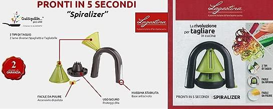 Rosso Gefu Affettatore a Spirale Spirelli 89265 Tagliaverdure Acciaio Inox // Plastica con Recipiente per Resti