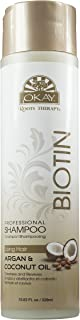 OKAY | Roots Therapy Professional Biotin Shampoo | For All Hair Types & Textures | With Argan & Coconut Oil | Revitalize a...