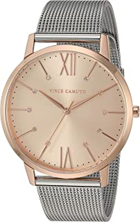 Women's VC/5333RGSV Swarovski Crystal Accented Rose Gold-Tone and Silver-Tone Mesh Bracelet Watch