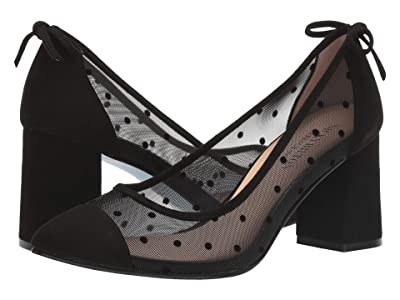 French Sole Nicky Hilton Holly (Black Polka Dot Mesh) Women