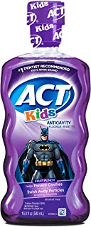 Act Kids Anti Cavity Rinse Batman, 16.9 Ounce