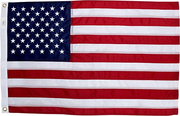 Fine Line Flag 2x3 Ft American Flag 100 Made In USA US Flag In Heavy Duty Outdoor Nylon UV Fade Resistant Premium Embroidered Stars Sewn Stripes And Brass Grommets 2 X 3 Foot