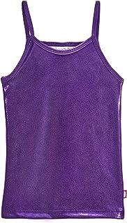 City Threads Girls Cami Spaghetti Strap Tee Tshirt Fun Colorful Metallic Shiny Mermain Print Tank Top for School Party Sum...