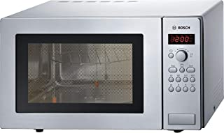 Bosch Stainless steel Microwave with Grill, 25 Liters, HMT84G451M, 1 Year Warranty