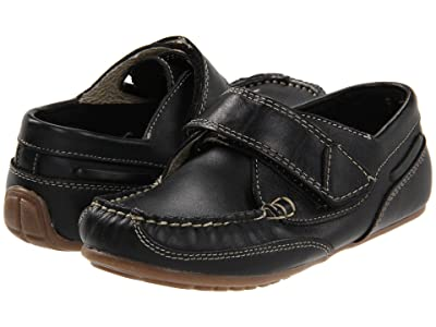 Kid Express Chase (Toddler/Little Kid) (Black Leather) Boys Shoes