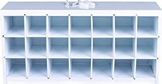 ArtBin 6828AG Paint Storage Tray, 6 in. x 12.5 in. x 3.5 in, White, Wall Mountable, 21 Compartment Arts and Crafts Supply Storage, Paint Organization