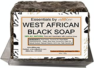 West African Black Soap |100% Organic|#1 Psoriasis, Acne, Eczema Treatment| For Face, Hair & Body| Anti-aging & Wrinkles p...