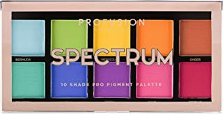 Profusion Cosmetics Mini Artistry 10 Shade Eyeshadow Palette, Spectrum