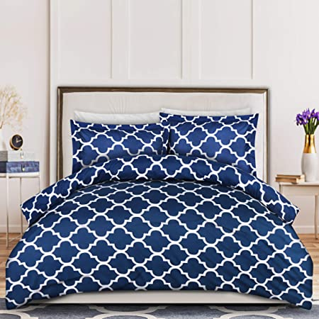 Amazon Com Utopia Bedding 3pc Duvet Cover Set 1 Duvet Cover With 2 Pillow Shams Comforter Cover With Zipper Closure Soft Brushed Microfiber Shrinkage Fade Resistant Easy Care Queen