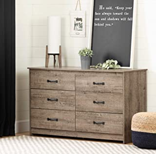South Shore Tassio 6-Drawer Double Dresser Weathered Oak