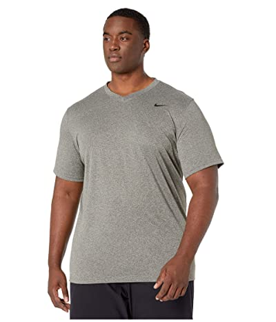 Nike Big Tall Dry Tee Legend V-Neck 2.0 (Cargo Khaki/Particle Grey) Men