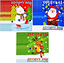 Christmas Activity Pads and Coloring Books for Kids- Set of 36 Books Mazes, Crossword, Connect the Dot, Coloring and Word Search - Great Stocking Stuffers and Classroom Reward Holiday Party Favors
