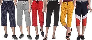 SHAUN Women's Cotton Capri (Pack of 6)