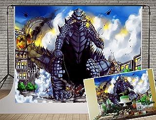 SDZY144 Fotohintergrund für Partys, 182 x 152,4 cm, Baumwolle, Godzilla