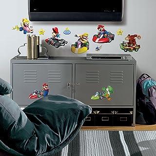 Roommates 771Scs Nintendo Mario Kart Peel And Stick Wall Decals, 34 Count