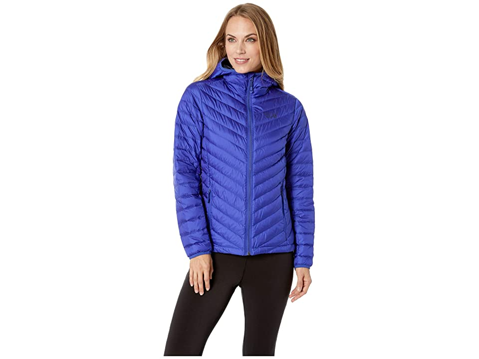Mountain Hardwear Micro Ratio Hooded Down Jacket (Blue Print) Women