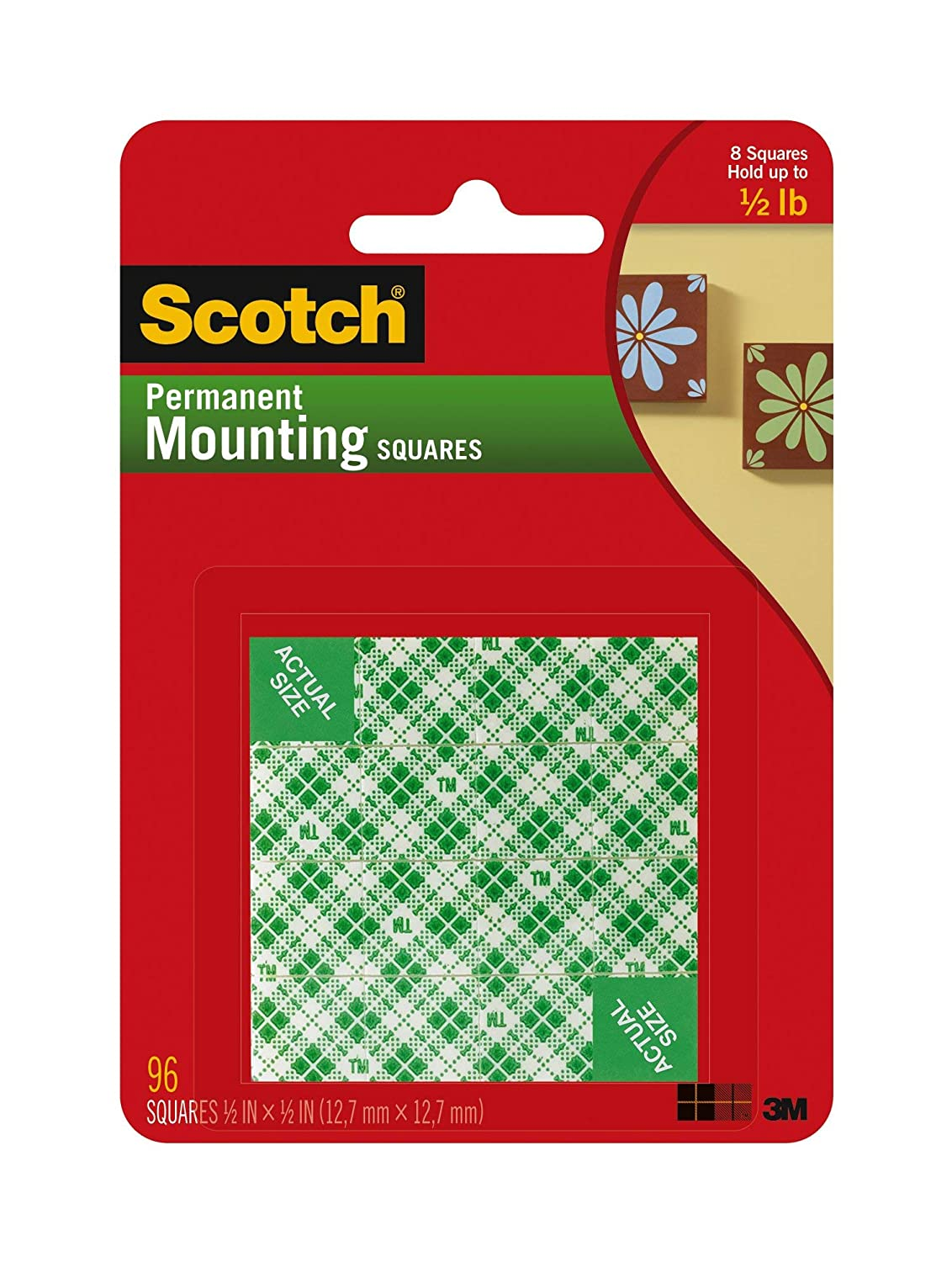 - 1 Indoor Mounting Squares White 1//2 -in x 1//2-in 111-SML 96-Squares