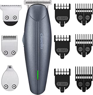 Beard Trimmer Kit USB Rechargeable Hair Clippers Cordless body Grooming Trimmer Kit of Mustache Trimmer ,Hair Cutting Trimmer with 7 Blade Combs for man Stubble groomer by Ciwellu