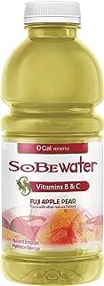 SoBe Water, Vitamin Enhanced, 0 Calories, Fuji Apple Pear, 20 Ounce, (Pack of 12)