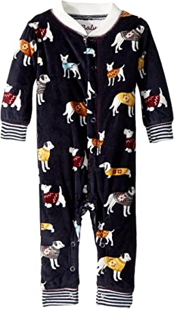 P.J. Salvage Kids - Fleece Sweater Dogs Romper (Infant)