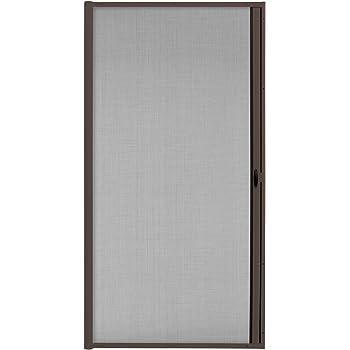 JAROLIFT 3 en 1 Puerta corredera mosquitera - Zanzara Mosquitera para puertas, marco de aluminio 125 x 220 cm, marrón: Amazon.es: Bricolaje y herramientas