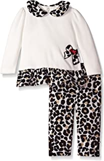 b9676426e28 Hartstrings Baby Girls  Cotton Velour Tunic with Animal Print Legging