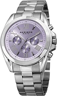 Akribos XXIV Women's Fashion Quartz Watch - Sunburst Dial - Featuring a Stainless Steel Bracelet - [ AKN951 ]