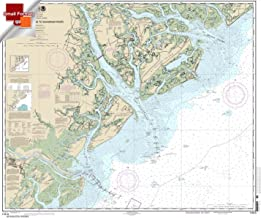 Paradise Cay Publications NOAA Chart 11513: St. Helena Sound to Savannah River 21.00 x 25.01 (SMALL FORMAT WATERPROOF)