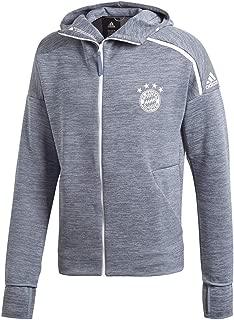 adidas 18/19 Mens Bayern Munich Z.N.E. Hoodie Full Zip Steel/Blue X-Large
