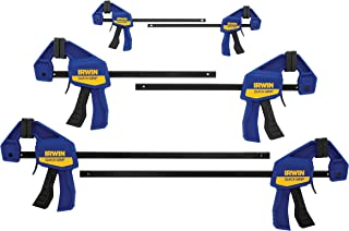 IRWIN QUICK-GRIP Bar Clamp, One-Handed, Mini, 6-Pack (1964749)