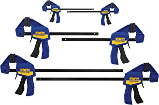 IRWINQUICK-GRIPOne-Handed Mini Bar Clamp 6 Pack, (2) 4-1/4