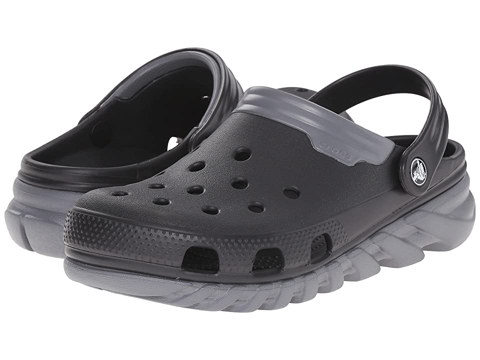 Crocs Duet Max Clog (Black/Charcoal) Clog Shoes