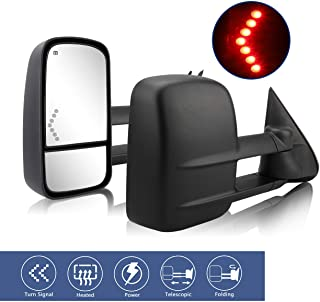 HF AUTOPARTS Compatible with Chevy Towing Mirrors,...