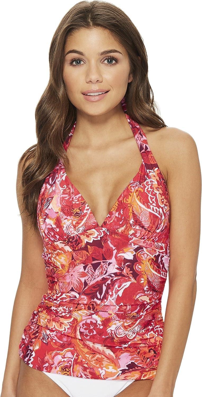 Lauren Ralph Lauren Womens Exotic Paisley Halterkini Top with Molded Cups