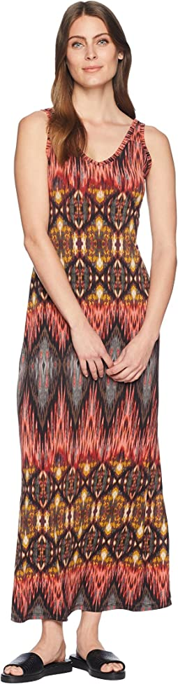 Desert Print Side Slit Maxi Dress